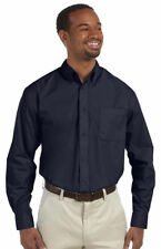 Harriton Men's Chest Pocket Long Sleeve Button Down Two Button Cuff Shirt. M510