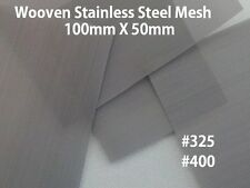 WOVEN WIRE MESH STAINLESS STEEL #400 #325 100mm X 50mm