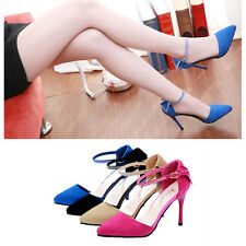 Fashion Lady OL Pointed Toe Heels Summer Low Vamp Flat Sole Shoes Sandals