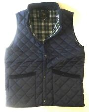 Mens Quilted Padded Riding Bodywarmer Waistcoat Gillet Brand New Navy Blue