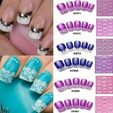 3D Transfer Lace Design Nail Art Stickers Manicure Nail Polish Decals Tips