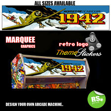 Arcade Marquee Stickers / Laminated All Sizes All Designs 1942, StarWars + More