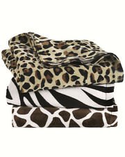 "Animal Print Velour Beach Towel 30"" x 60"" NEW AWESOME ANIMAL PATTERN TOWELS NEW"