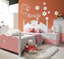 GIRLS NAME Bedroom Wall Art Decal/Sticker/Stencils 3 SIZES PEPPA PIG