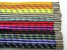 Sports Gym Outdoor Hiking Round Shoelaces with/without Metal Tips-Many Colors