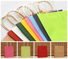 5PCS Paper Carrier Bags with Twisted Paper Handles-Size: 18 x 15 x 8cm