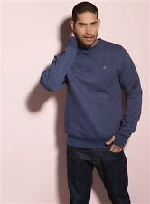 Carter Quilted Crew Neck Jumper - Navy