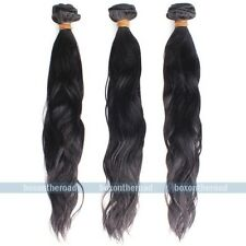 """12-28"""" Natural Body wave weaving Wavy Remy Brazilian human hair extensions 50g"""