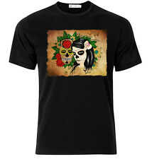 El Dia De Los Muertos X   - Graphic Cotton T Shirt Short & Long Sleeve