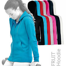 Fruit Of The Loom - 62118 - Ladyfit Zipped Hoody, Hoodie, Sweatshirt (7 Cols)