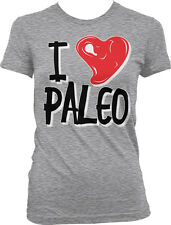 I Love Paleo - Meat Steak Heart Diet Workout Fitness Girls Junior T-Shirt