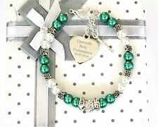 Engraved Baby Jewellery Christening/ First Holy Communion Bracelet Gift in Box