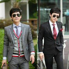 SH15 New Mens Stylish Slim Fit Sexy One Button Suits Blazer Jackets plus Pants