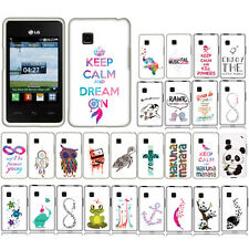 For Tracfone LG 840G Funny Elephant And Bird Snap On HARD Case Cover Accessory