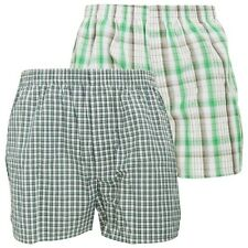 (Free PnP) Mens Cotton Woven Boxer Shorts / Boxers / Underwear (Pack Of 2)