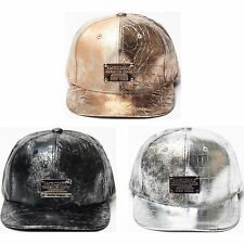 New Metallic Color Foil Rock Design Snapback Cap  HipHop Style Flat Peak Hat H44