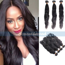 "12-28"" Virgin Natural Body wave 100% Remy Brazilian human hair extensions 50g"