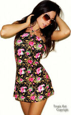 """NEW! """"Baby Phat"""" Sexy, Stretching, Backless Halter Tunic Mini Cover Up Dress, L"""