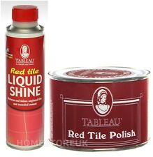 TABLEAU RED TILE LIQUIDE SHINE RESTORES COLOUR / WAX POLISH FOR TILE AND FLOOR