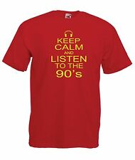 KEEP CALM 90'S funny music party gift NEW Boys Girls T SHIRT TOP Age 1-15 Years