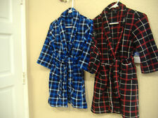 **Faded Glory boys Pajama Robes black or red plaid M / L SHIPS FREE