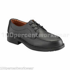 PSF Executive S46 Mens Safety Black Leather Work Shoes with Steel Toe Cap Office