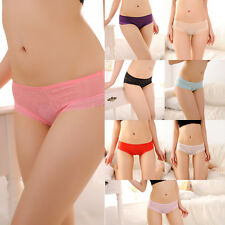 Women Sexy Fashion Lace Panties Back Hollow Transparent Briefs Underwear Thongs