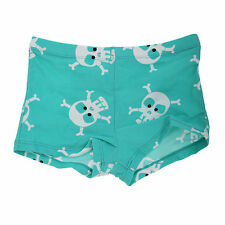 (Free PnP) Childrens/Kids Boys Lined Skull And Crossbones Swim Shorts / Trunks