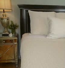 Ivory 100% BAMBOO Quilted Coverlet Bedding Hypo-allergenic Eco-Friendly 2 Sizes