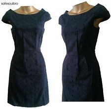 LADIES NAVY NEXT COTTON  SHIFT BRODERIE ANGLAISE LACE TUNIC PARTY DRESS SZ 6~18