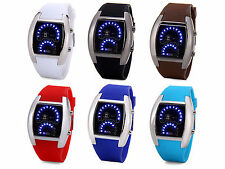 Luxury LED Newest Car SmartWatch with Digital Indicate Day Date and Rubber Band