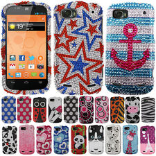 For Boost Mobile ZTE WARP SEQUENT N861 Case Bling Accessory HARD Cover Bubbles