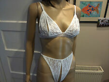 NEW OPEN BRA & CROTCHLESS KNICKER SET POLE DANCING ROLE PLAY VAR SIZES COLOURS