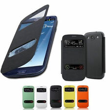 New Double Viewing Window Flip Cover Case For All Samsung Galaxy NOTE 2 Phone