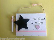 Personalised Weight Loss Wooden Chalk Board Countdown Plaque Fridge Magnet Sign