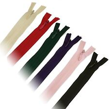 """A 19.06.14 Invisible Concealed Closed End Zips 8""""9""""14"""" Nylon New"""