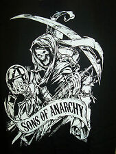 SONS OF ANARCHY REAPER WITH BANNER MUSCLE SHIRT NEW !
