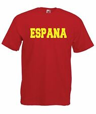 SPAIN espana sports game tee football soccer sz NEW Boys Girls Kids T SHIRT TOP
