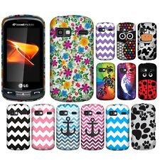 For LG Rumor Reflex LN272 LN272S Xpression C395 Cow Snap On HARD Case Cover