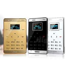 Ultra Mini Pocket OLED Cell Mobile Phone GSM M3 MP3 Bluetooth Card Size HIYG