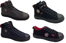 New Lee Cooper Safety Shoes Boots Trainers Canvas Style Steel Toe Cap Black