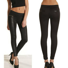 New Women Leather Look Skinny Ladies Stretchy Legging Jegging Trouser Pants