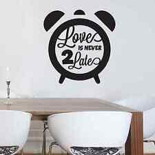 Love, quote, clock, bed, family, Wall Sticker Decal, SS1951