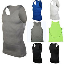 Men's Sports Compression Under Base Layers Top Tights Sleeveless Skins T Shirts