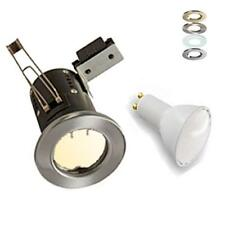 10 X 4W LED Fire Rated Downlight Downlighter Spotlights 240V Fixed Pressed Steel