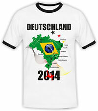 WM Fan Shirt Germany Men's Football WM 2014 with Name and Nombre Désiré