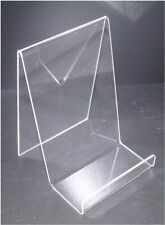 BOOK STANDS IN CLEAR ACRYLIC AVAILABLE SMALL, MEDIUM, LARGE SIZES