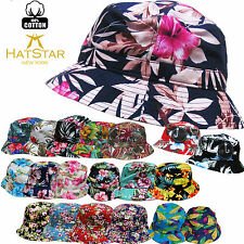 Bucket Hat Boonie Flower Hunting Summer Fishing Outdoor Cap Unisex 100% Cotton