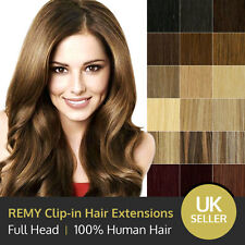 Luxury 100% Remy Clip in Human Hair Extensions - Various Colours - 15 18 20 inch