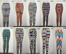 Women Skinny Colorful Print Leggings Stretch Sexy Pants Tights Slim Fit 10 Color
